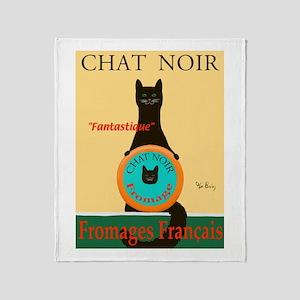 Chat Noir II (Black Cat) Throw Blanket