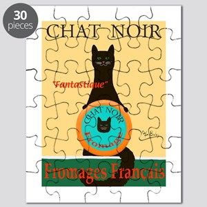Chat Noir II (Black Cat) Puzzle