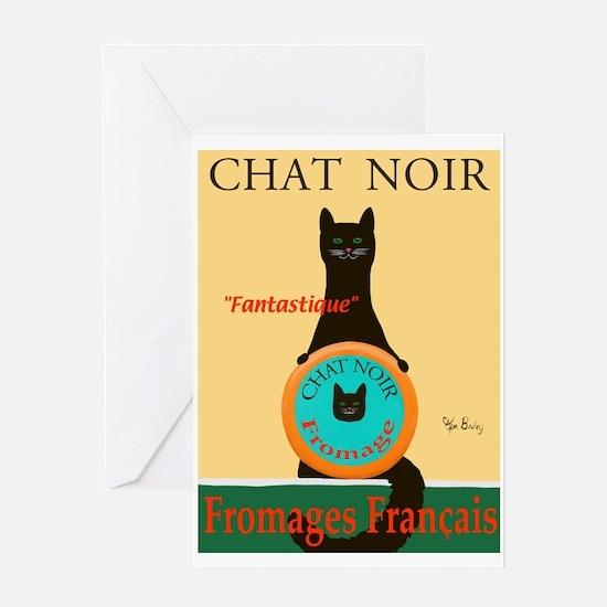 Chat Noir II (Black Cat) Greeting Card