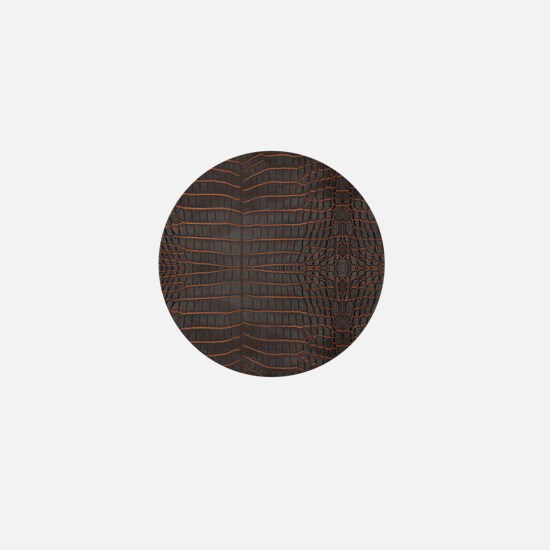 Chestnut Nile Crocodile Skin Mini Button