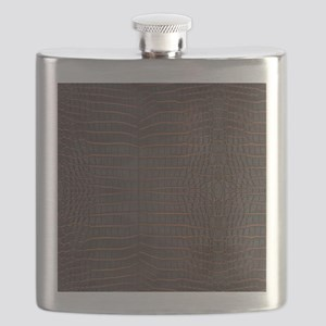 Chestnut Nile Crocodile Skin Flask
