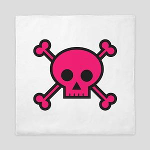 Skull and Crossbones Pink Queen Duvet