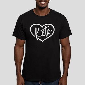 I Love Keto Men's Fitted T-Shirt (dark)