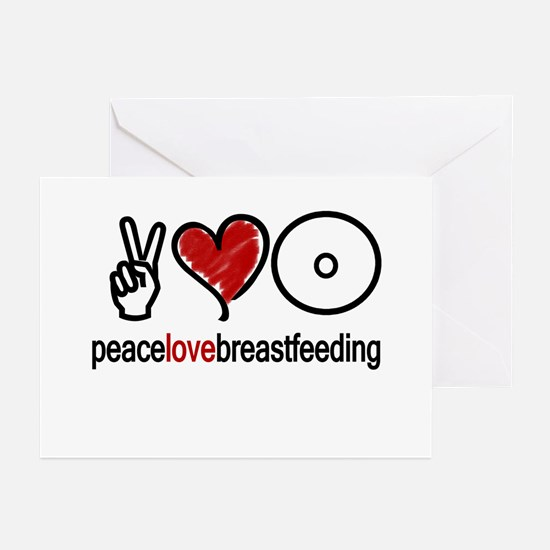 Peace, Love & Breastfeeding Greeting Cards (Packa