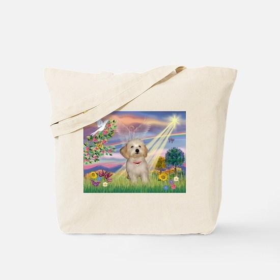 Cloud Angel /Havanese pup Tote Bag