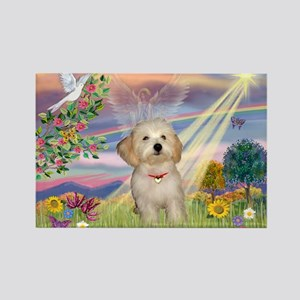 Cloud Angel /Havanese pup Rectangle Magnet