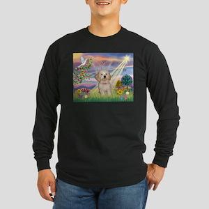 Cloud Angel /Havanese pup Long Sleeve Dark T-Shirt