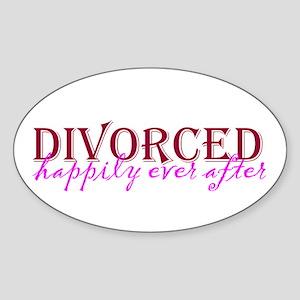 Divorced Oval Sticker