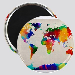 Map of the World Map Painting Magnets
