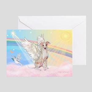 Clouds / Italian Greyhound Greeting Card