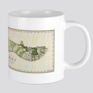 Vintage Map of Molokai Hawaii (1906) Mugs