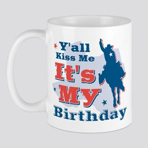 Kiss Me Cowboy Birthday Mug