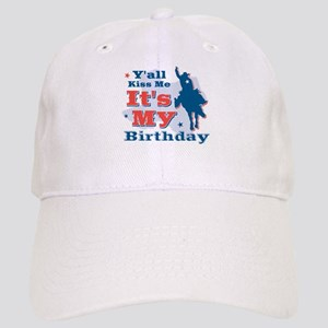 Kiss Me Cowboy Birthday Cap