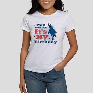 Kiss Me Cowboy Birthday Women's T-Shirt