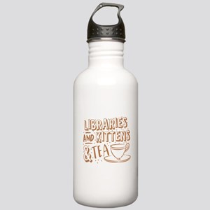 Libraries and kittens Stainless Water Bottle 1.0L