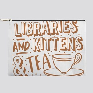 Libraries and kittens and TEA Makeup Bag