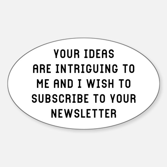 Your Ideas Sticker (Oval)
