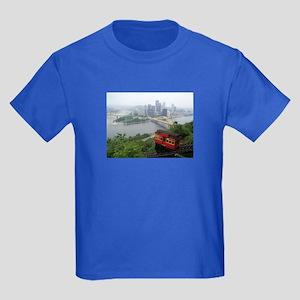 Pittsburgh Skyline Kids Dark T-Shirt