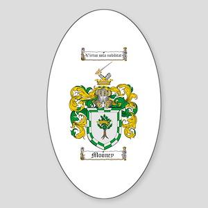 Mooney Family Crest Oval Sticker
