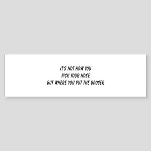 booger Bumper Sticker