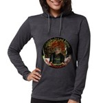 Knotted Fists Womens Hooded Long Sleeve T-Shirt