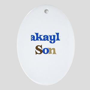 Makayla's Son Oval Ornament
