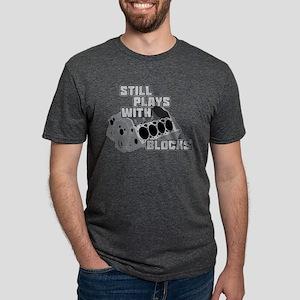 Still Plays With Blocks Mens Tri-blend T-Shirt