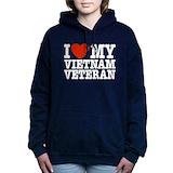 I love vietnam veteran Hooded Sweatshirt