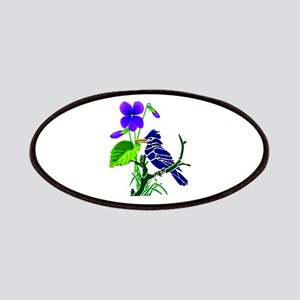 Violet and Blue Jay Patch