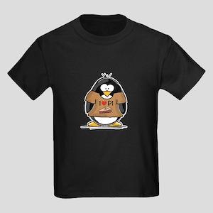 I Love PI Penguin Kids Dark T-Shirt