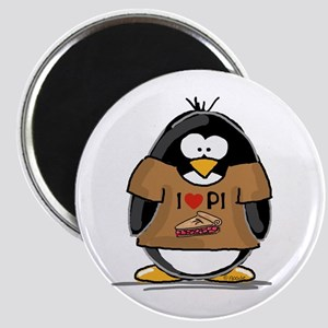 I Love PI Penguin Magnet