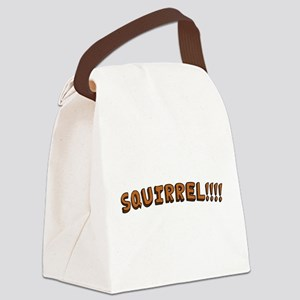 SQUIRREL!!!! Canvas Lunch Bag