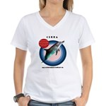 Dolphin Cerra Women's V-Neck T-Shirt