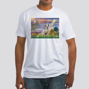 Mona Lisa (new) & Dalmatian Fitted T-Shirt