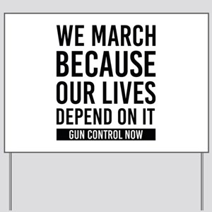 March For Our Lives Yard Sign