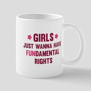 Girls Just Wanna Have Fun Large Mugs