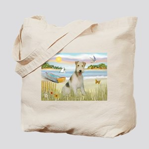 Rowboat & Wire Fox Terrier Tote Bag