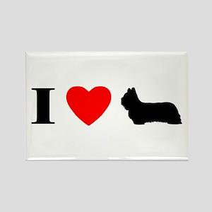 I Heart Skye Terrier Rectangle Magnet