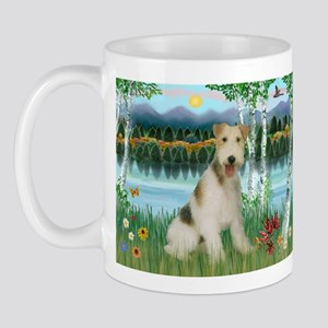 Wire Fox Terrier in Birches Mug