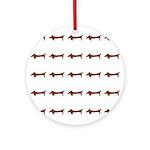 Weiner Dog Ornament (Round)