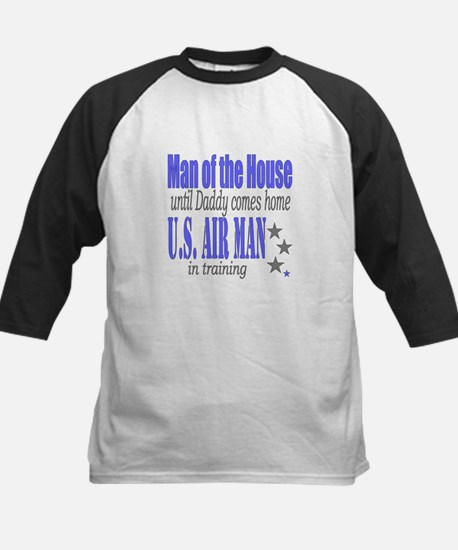 Airforce Man of the House Kids Baseball Jersey
