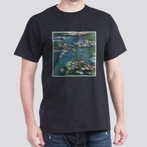 Waterlilies by Claude Monet Dark T-Shirt
