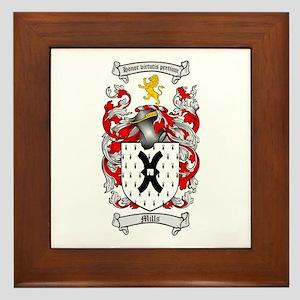 Mills Family Crest Framed Tile