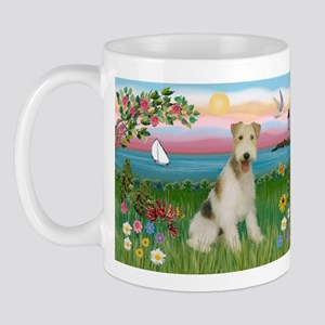 Lighthouse & Wire Fox Terrier Mug