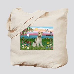 Lighthouse & Wire Fox Terrier Tote Bag