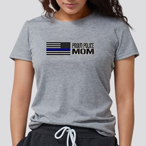 Police: Proud Mom (Black Flag Women's Dark T-Shirt