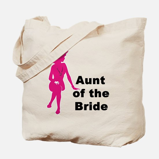 Silhouette Aunt of the Bride Tote Bag