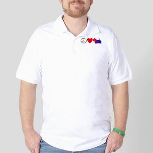 Peace Love Scottie Golf Shirt