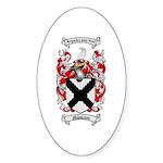 Middleton Family Crest Oval Sticker