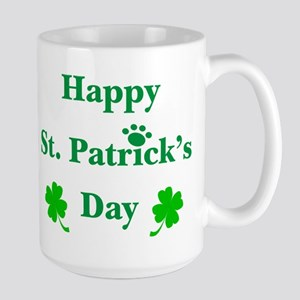 Happy St. Patricks Day W/Paw 209 Mugs